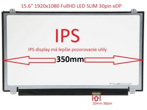 15.6 LED FHD SLIM 30PIN eDP IPS 350mm