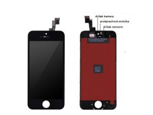 apple iphone 5s lcd display cierny