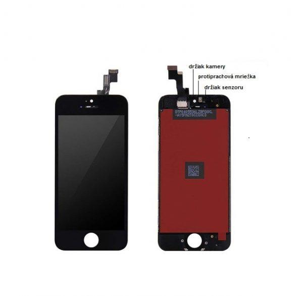 apple iphone 5s lcd display cierny